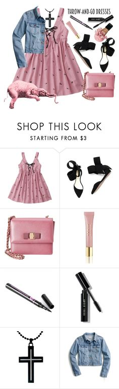"""""""Easy Peasy!"""" by loves-elephants ❤ liked on Polyvore featuring Aminah Abdul Jillil, Salvatore Ferragamo, AERIN, Bobbi Brown Cosmetics and J.Crew"""