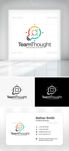 Team Thought Logo (Vector EPS, AI Illustrator, Resizable, CS, brand, bulb, business, charity, colorful, community, company, corporate, country, coworker, diversity, ethnicity, friends, friendship, humans, idea, identity, lamp, light, logo, networking, partnership, peoples, social, team, teamwork, technology)