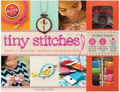 Embroidery Projects Klutz Tiny Stitches - Klutz Tiny Stitches is full of petite embroidery projects you can wear or display! Klutz-clear instructions Make quick, hip, tiny embroidery Create necklace pendants, buttons, hair clips Embroidery Needles, Embroidery Kits, Creative Embroidery, Glitch, Learning To Embroider, Stitch Kit, Transfer Paper, Stitch Design, Craft Kits