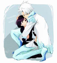 Momo and Toshiro Hitsugaya #hug