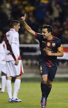 Xavi, FC Barcelona. | Celebra el tercero del Barcelona. | Rayo Vallecanio 0-5 FC Barcelona. 27.10.12.