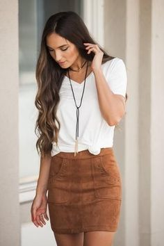 How to wear a suede skirt 15 outfit ideas