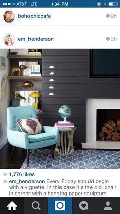 Fireplace but white plank walls and tv