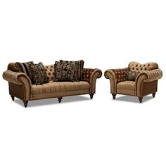 Brittney Upholstery 2 Pc. Living Room w/Chair | Furniture.com $1,799.98