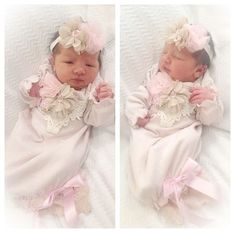 Baby Girl Coming Home Outfit Blush Baby Gown Cap by PoshBabyBlooms Baby Going Home Outfit, Girls Coming Home Outfit, Take Home Outfit, Cute Babies, Baby Kids, Bringing Baby Home, Baby Gown, Dress For Short Women, Future Baby