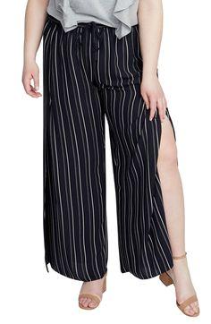 5bd02d61eda2d RACHEL Rachel Roy Stripe Wide Leg Pants (Plus Size)