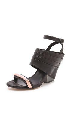 Zero + Maria Cornejo Iva Heeled Sandals in Black (brown) | Lyst