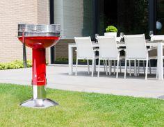 Mooie rode barbecue met een kookoppervlak van Ø50 cm #bbq