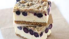 Lemon-Blueberry Cheesecake Bars (1 tsp lemon zest=1/2 tsp lemon extract=2 Tbs. lemon juice) (14 whole graham crackers=2 cups...for recipe, use 1 1/4 cup graham crumbs)