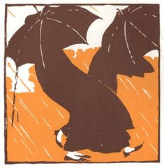 Art Nouveau Illustration/Woodcut by Leopold Stolba entitled February from a Ver Sacrum calendar for 1903.