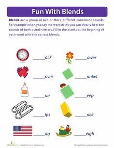 Worksheets: L Blends