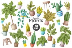 Home garden clipart house plants and furniture images Etsy in 2020 Clip art House plants Garden clipart