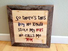 Mother/Son Wood Wall Hanging by thebunchstore on Etsy, $28.00