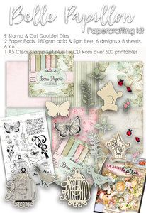 Belle Papillion Papercrafting Kit  http://www.polkadoodles.co.uk/craft-store/paper-kits-collections/belle-papillon-paper-craft-kit/