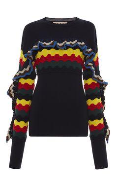 Multicolor Ruffle Sweater by Marni | Moda Operandi