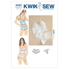 Amazon.com: Kwik Sew K3167 Camisoles and Panties Sewing Pattern, Size XS-S-M-L: Arts, Crafts & Sewing