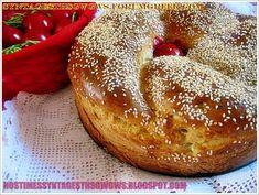 ΛΑΜΠΡΟΨΩΜΟ ΕΥΚΟΛΟ ΚΑΙ ΜΥΡΩΔΑΤΟ!!! - Νόστιμες συνταγές της Γωγώς! Easter Recipes, Bagel, Bread, Food, Brot, Essen, Baking, Meals, Breads