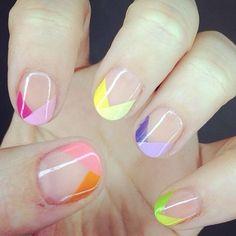 summer geometric nail art