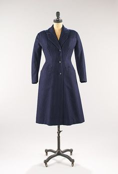 Coat Design House: House of Dior (French, founded 1947) Designer: Christian Dior (French, Granville 1905–1957 Montecatini) Date: spring/summer 1954 Culture: French Medium: wool