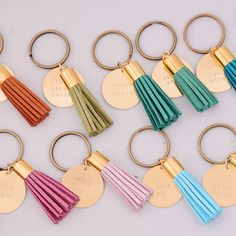 Bestselling Alpha Chi Omega tassel keychain comes in your choice of color for a suede leather tassel. Each piece is handmade and unique! Bid Day Gifts, Diy Keychain, Keychain Ideas, Leather Tassel Keychain, Greek Design, Big Little Gifts, Sorority Crafts, Chi Omega, Key Rings