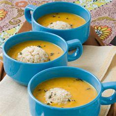 Sage Butternut Squash Soup With Brown Rice | MyRecipes.com
