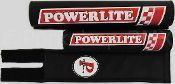 ***BLEMISH*** Powerlite 3 piece nylon BMX bicycle Padset 1978-1983 logo BLACK ***BLEMISH***