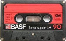 Audio cassette tape from tapedeck.org [nice color-assorted collection of audio cassette tapes]