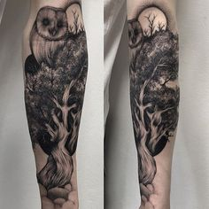 Explore the great outdoors with the top 59 best forearm tree tattoo designs. Discover cool connections to earth with forest inspired ink ideas. Owl Forearm Tattoo, Mens Owl Tattoo, Small Forearm Tattoos, Arm Tattoos For Guys, Tattoo Owl, Mandala Tattoo, Hand Tattoos, Life Tattoos, Body Art Tattoos