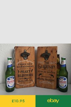 Peaky Blinders Gifts, The Garrison, Wall Mounted Bottle Opener, Wooden Walls, Birthday, Diy, Signs, Furniture, Style