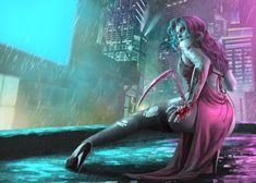 Cyberpunk by devenum on DeviantArt Cyberpunk 2077, Cyberpunk Girl, Arte Cyberpunk, Cyberpunk Character, Fantasy Women, Dark Fantasy Art, New Retro Wave, Cyberpunk Aesthetic, Futuristic Art