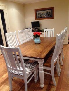 Farmhouse table - http://ana-white.com/2013/05/plans/husky-farmhouse-table.