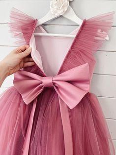 Gold Flower Girl Dresses, Dresses Kids Girl, Flower Girls, Flower Girl Tutu, Dusty Rose Dress, Mauve Dress, Tulle Dress, Buy Dress, Dress Up