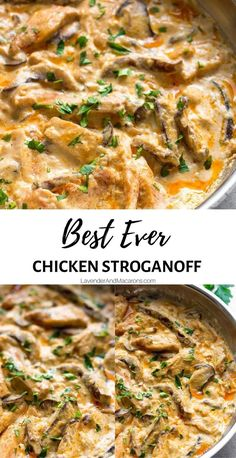 This Chicken Mushroom Stroganoff is a creamy, luxurious yet easy dinner inspired by delicious Eastern European cuisine. Plus, it's ready to eat in just half an hour!