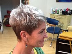 Highlighted pieces and pixie cut...