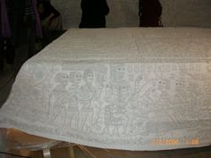 The modern copy of the Tristan Quilt made by Francine Nicolle and colleagues.