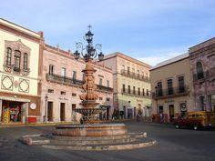 Glorieta de la fuente de los faroles en Zacatecas México
