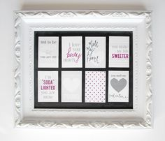 Printable Valentine's gift tags from Griffanie. Cute ideas for Valentine's gifts