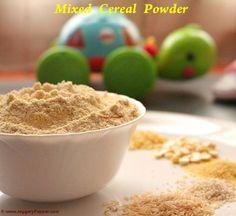 homemade multi grain Cereal powder recipe for babies