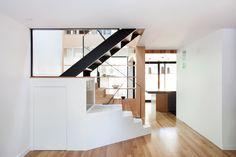 The client wanted to utilize the second storey of her 1920s duplex by converting her former rental unit into 3 bedroomsand an office space. While the grey-stone front facade only required minor restorations, the back of the house was transformed completely.Anemphasis on transparency creates constant...