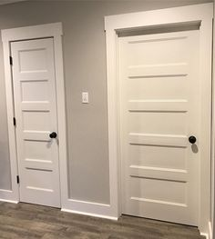 "Matt & Leah Bertrand on Instagram: ""Got some knobs on today! ❤️ these doors! #modernfarmhouse #fivepaneldoor #farmhouse #modernfarmhousestyle #remodel #fixerupper…"""