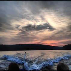 sunsets on lake wallenpaupack <3 #colorsofsummer