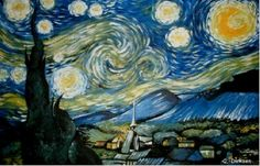 Reproduction of Starry Night...Best selling art prints and posters by Cherie Roe Dirksen