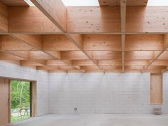 förstberg ling designs 'a house for two artists' with a grid of hidden skylights Malm, Space Architecture, Contemporary Architecture, Architecture Models, Villa, Timber Beams, Architectural Section, Timber House, Cottage Interiors