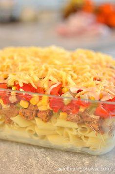 Zapiekanka gyros z makaronem Hawaiian Pizza, Penne, Macaroni And Cheese, Tacos, Cooking, Ethnic Recipes, Maki, Food, Drinks