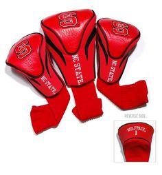 NCSU NC State Wolfpack Contour Gollf Club HeadCover - 3 Pack