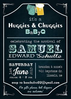 Huggies & Chuggies BBQ Invitation DIY by LetterBeePaperie on Etsy