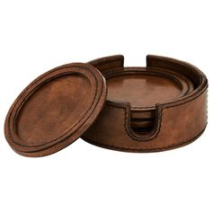 Andres Leather Coasters (set Of Leather Tray, Thick Leather, Leather Cuffs, Leather Case, Leather Wallet, Diy Leather Projects, Leather Crafting, Diy Projects, Leather Coasters