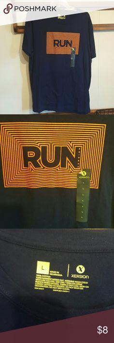 Xersion Mens Run Navy Blue T-shirt NWT large Xersion Mens Run Navy Blue T-shirt New with tags. Mens large xersion  Shirts Tees - Short Sleeve