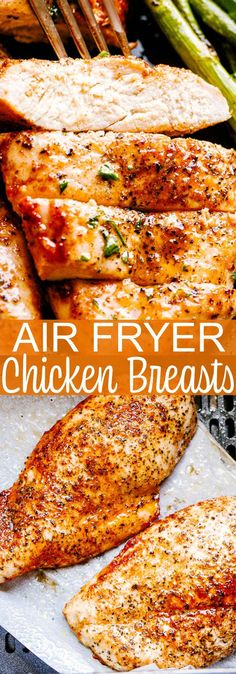 How to make juicy, super tender, and wonderfully delicious chicken breasts in the Air Fryer! How to make juicy, super tender, and wonderfully delicious chicken breasts in the Air Fryer! Air Fryer Recipes Vegetarian, Air Fryer Recipes Snacks, Air Frier Recipes, Air Fryer Recipes Breakfast, Air Fryer Dinner Recipes, Healthy Recipes, Fish Recipes, Chicken Breakfast Recipes, Keto Recipes