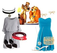 """""""Lady and the Tramp"""" by ayely-webb on Polyvore featuring TFNC, Daisy Jewellery, Kate Spade, Charlotte Russe, Jimmy Choo, Chicwish and Nly Shoes"""
